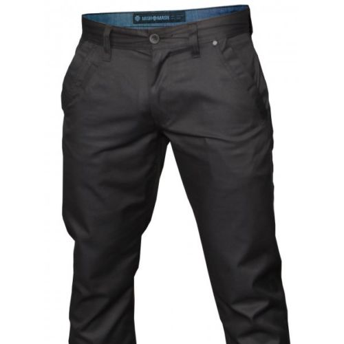 47a6af0dcd9 Mish Mash Mens Designer Cojiba Black Straight Tapered Fit Chino Jeans  Trousers